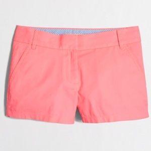 J. Crew Broken in Chino Shorts Neon